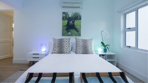 Modern bedroom at theLAB LIFESTYLE guest house