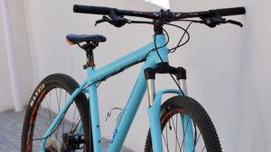 theLAB LIFESTYLE's blue bicycle for hire