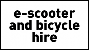 theLAB offers e-scooter and bicycle hire